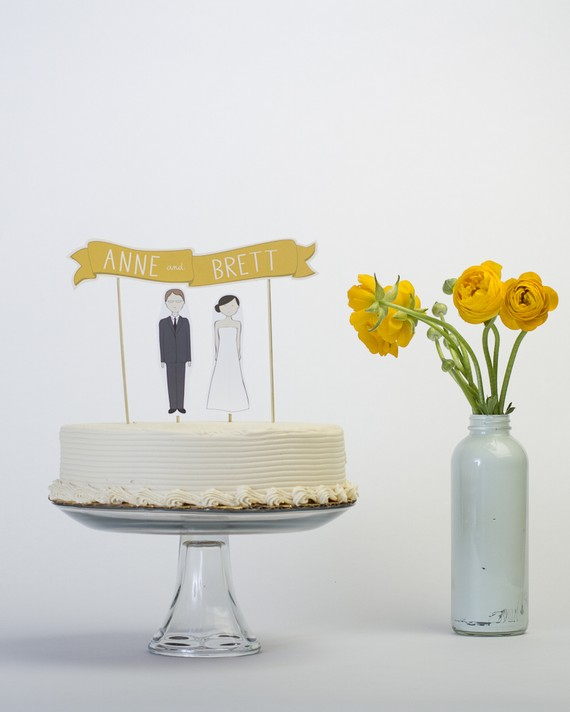 Simple Wedding Cake Topper