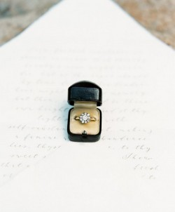 Vintage Engagement Ring in a Vintage Box