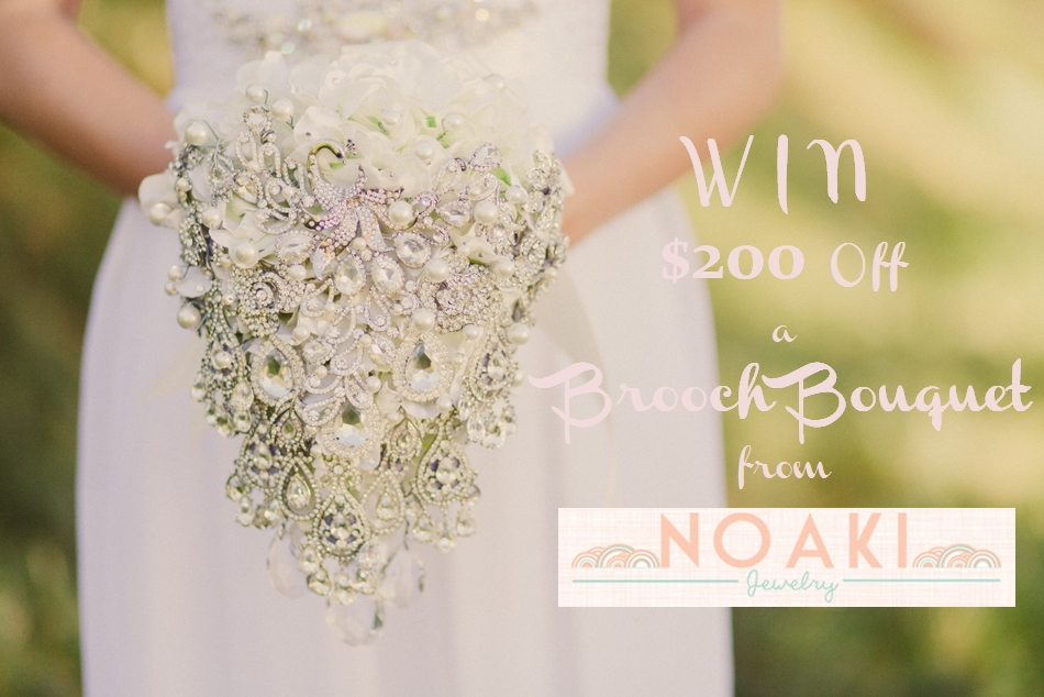 Win $200 Off a Noaki Brooch Bouquet
