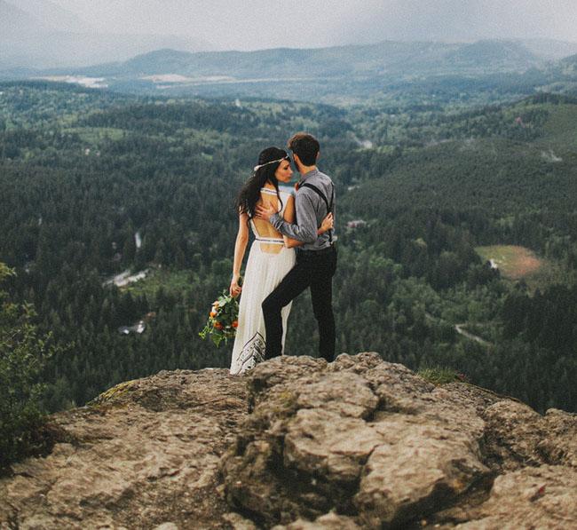 Romantic Woodland Elopment