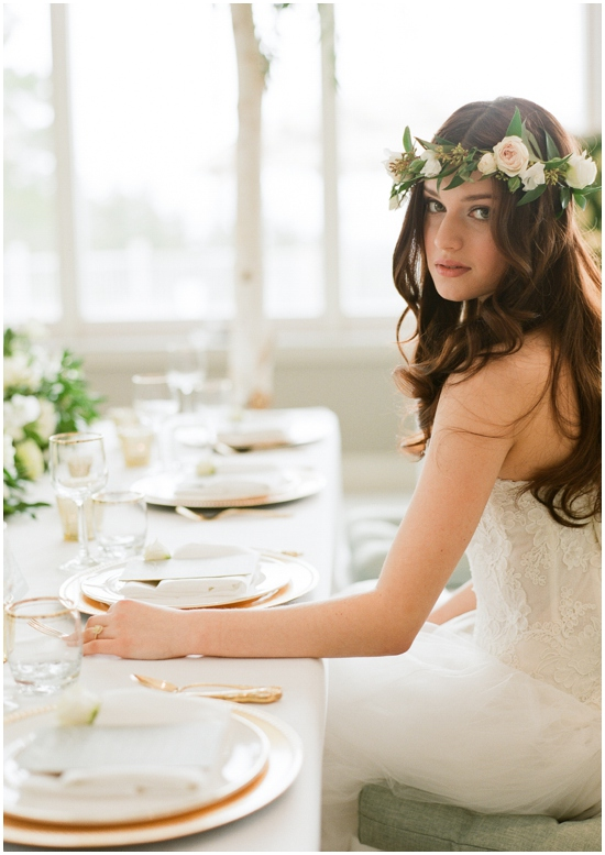 Natural Beauty Inspiration Shoot from AMB Photos with Satin & Snowflakes
