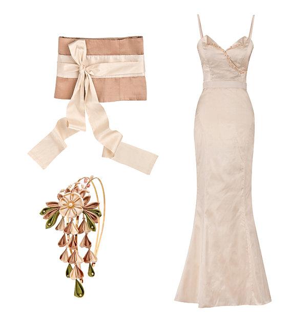 Marici Silk Wedding Dress Ensemble
