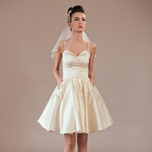 Sayuri Silk Skirt 50s Style with Pockets