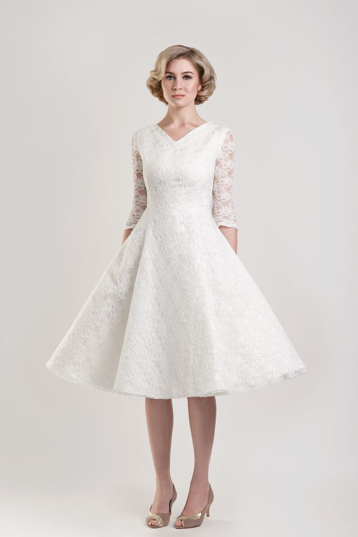 Tobi Hannah Tea Length Wedding Dress