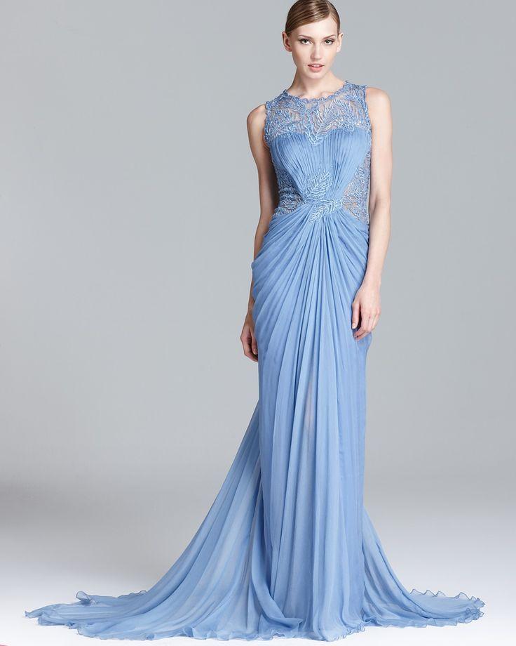 Tadashi Shoji Beaded Sequin Gown