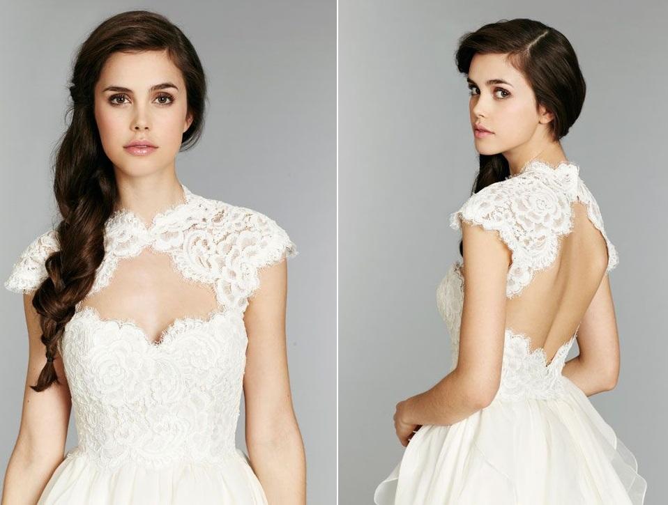 Hayley Paige Fall 13 Wedding Dress - Kira Close Up
