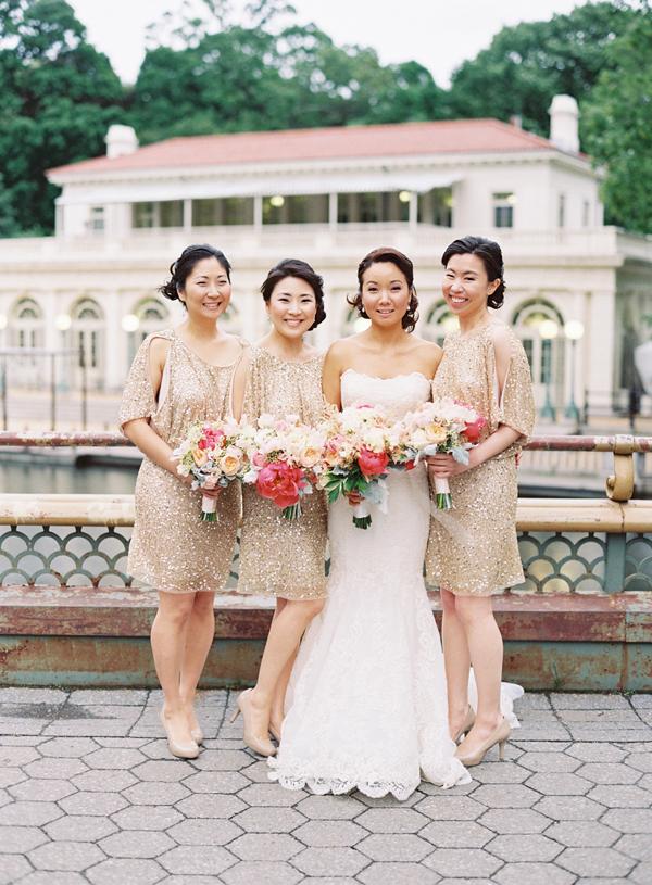 Gorgeous Glittery Bridesmaids