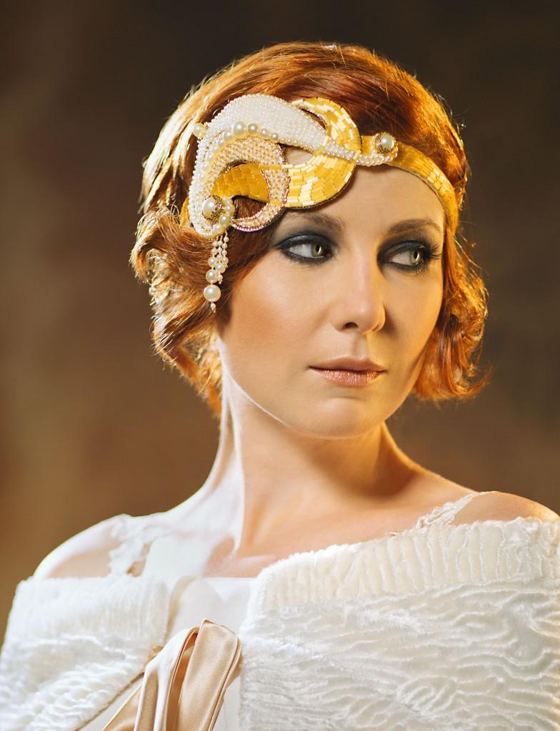 Isadora Art Deco Unique Bridal Headpiece