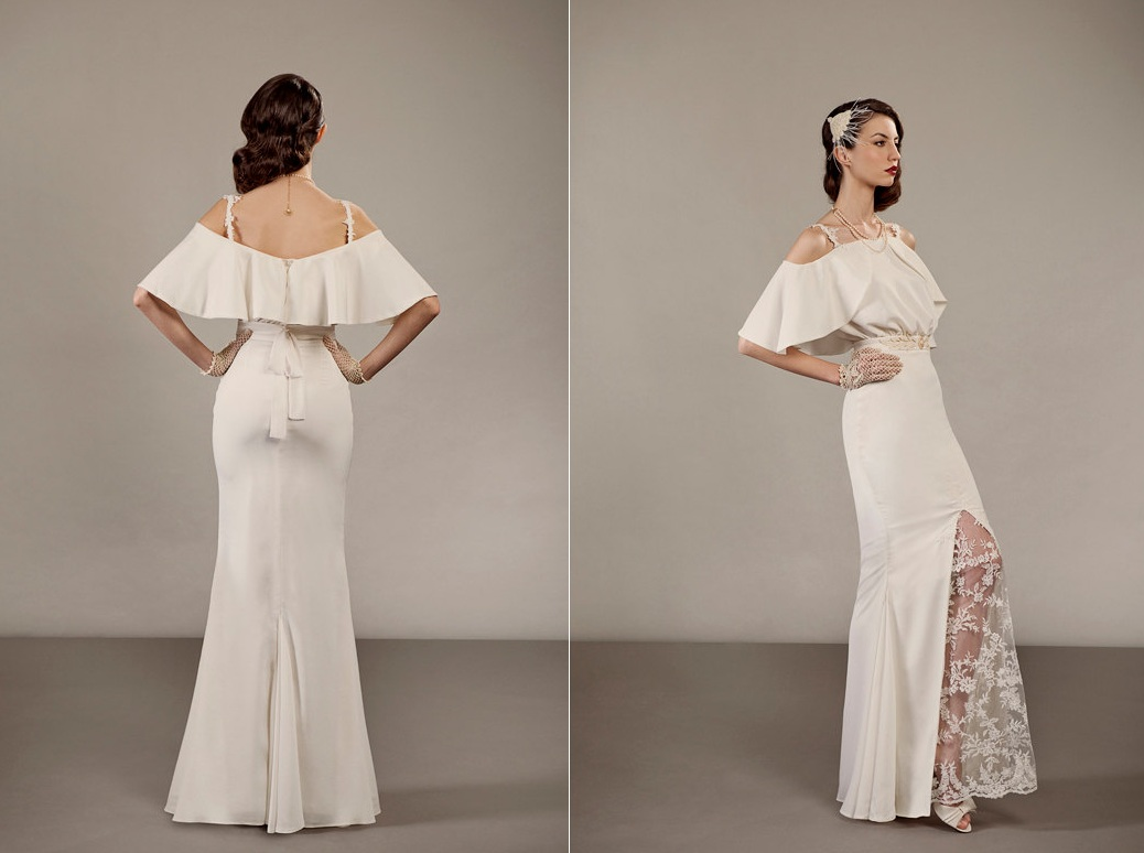Veronica Two Piece Unique Wedding Dress