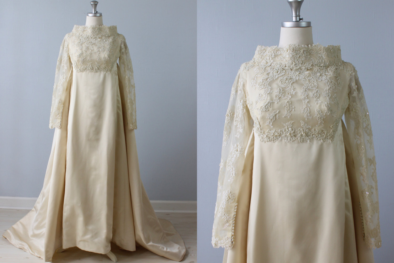 Vintage 1960s Wedding Dress - Priscilla of Boston