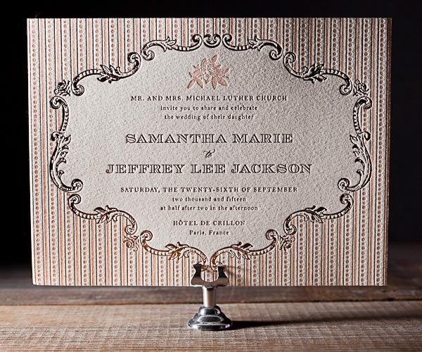 A Bientot Letterpress Stationery from Bella Figura