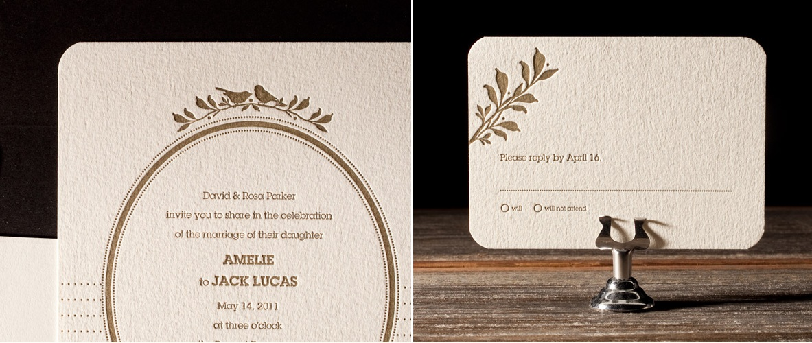 Amelie Letterpress Stationery from Bella Figura