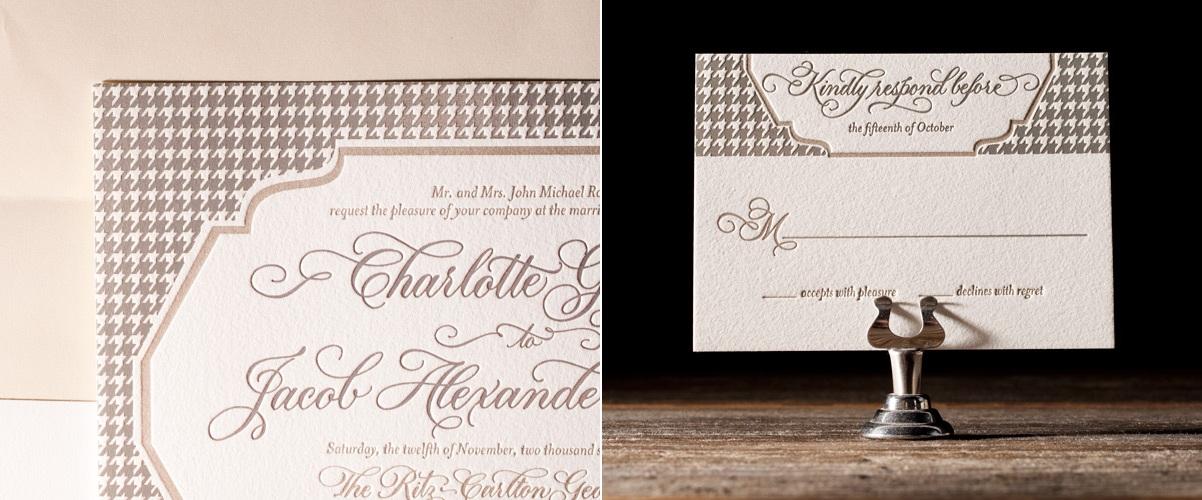 Ashton Letterpress Stationery from Bella Figura