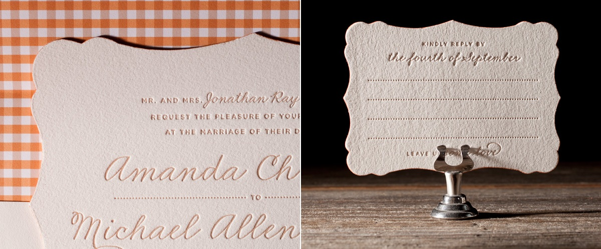Charlotte Letterpress Stationery from Bella Figura