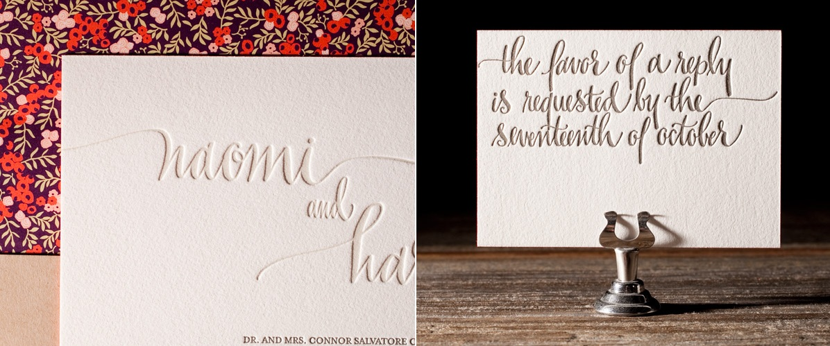 Colette Letterpress Stationery from Bella Figura
