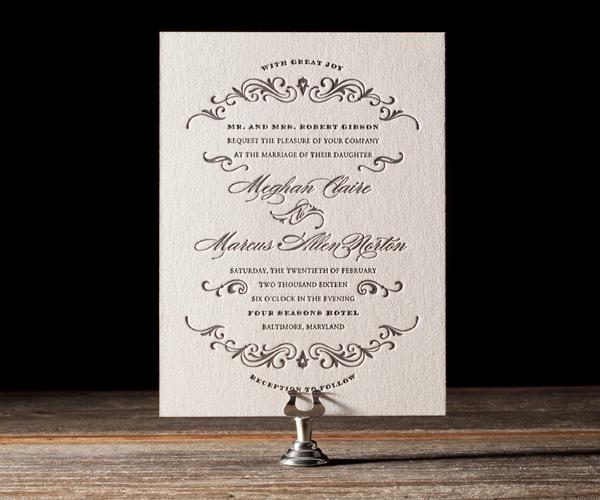 Gilford Letterpress Stationery from Bella Figura