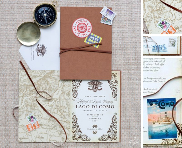 Travel Themed Wedding Invitations