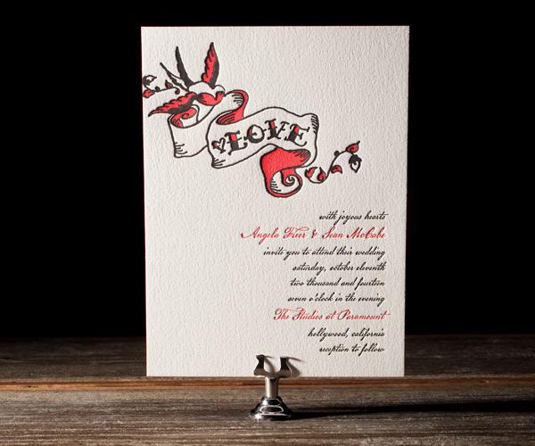Urban Ink Letterpress Stationery from Bella Figura