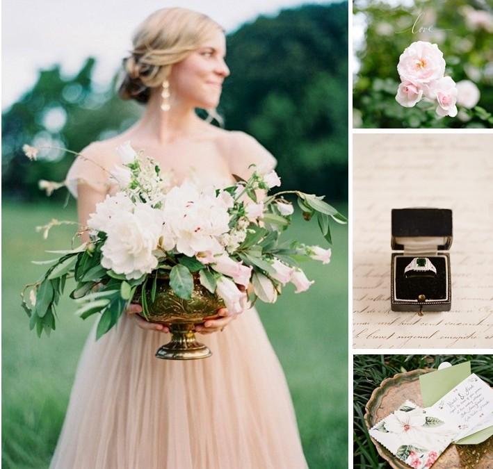 Emerald & Rose Pink Wedding Inspiration