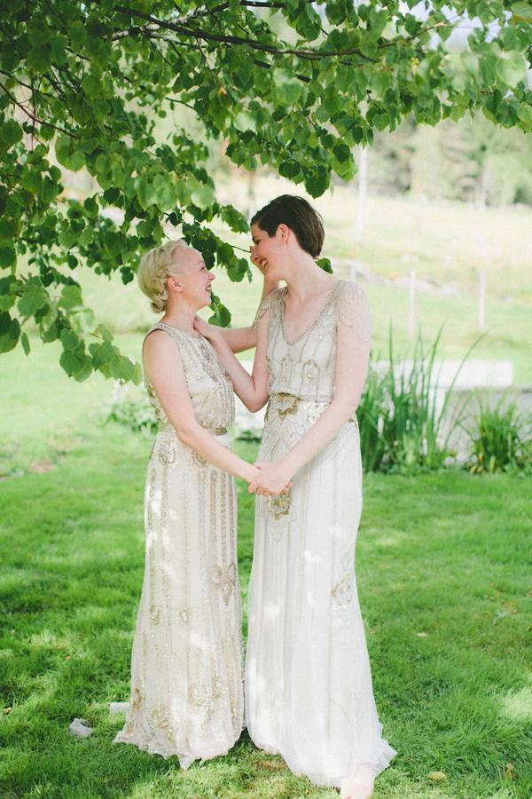 Glitzy Norwegian Wedding