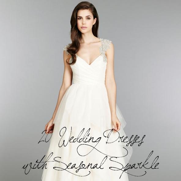 20 Wedding Dresses with Seasonal Sparkle