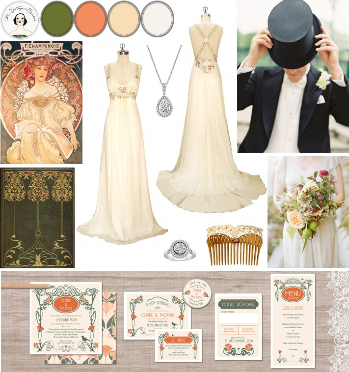 Belle Epoque Wedding Inspiration Board