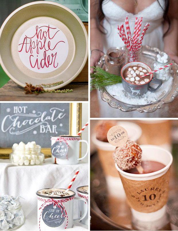 Simple & inexpensive Seasonal Wedding Decor - Hot Beverages