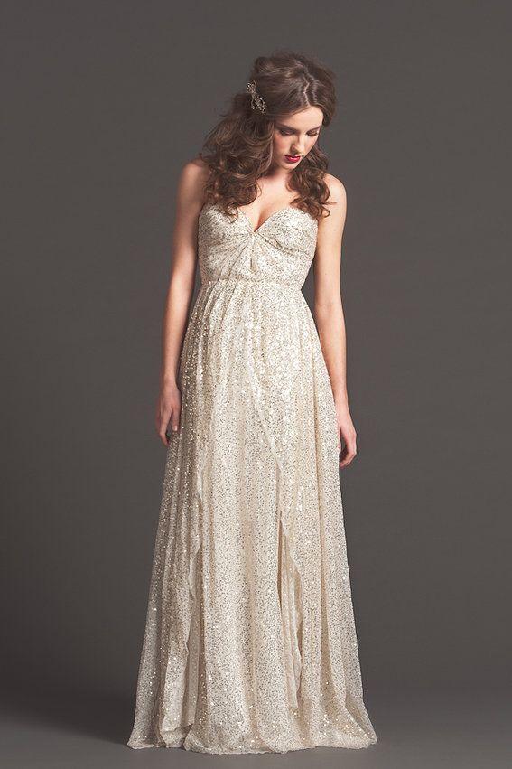 Sarah Seven Sparkly Wedding Dress
