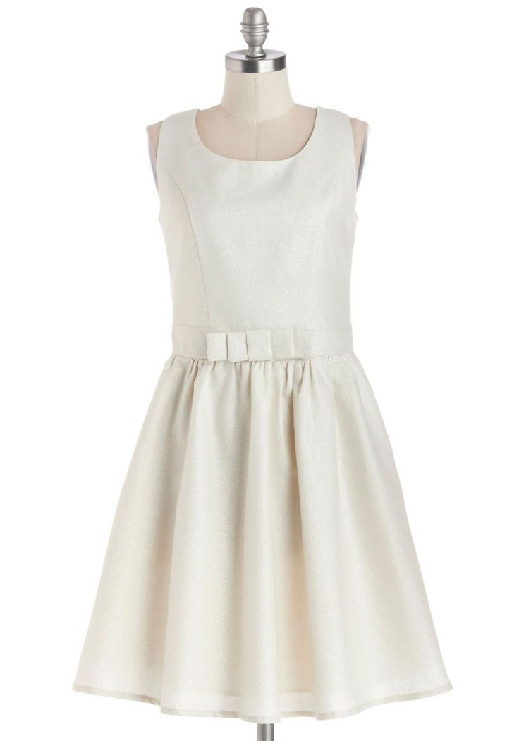 Silver Laced Ivory Dress from Modcloth