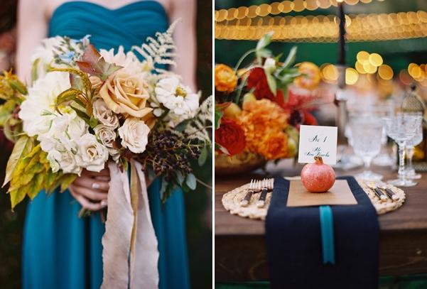 Elegant Colourful Autumn Wedding
