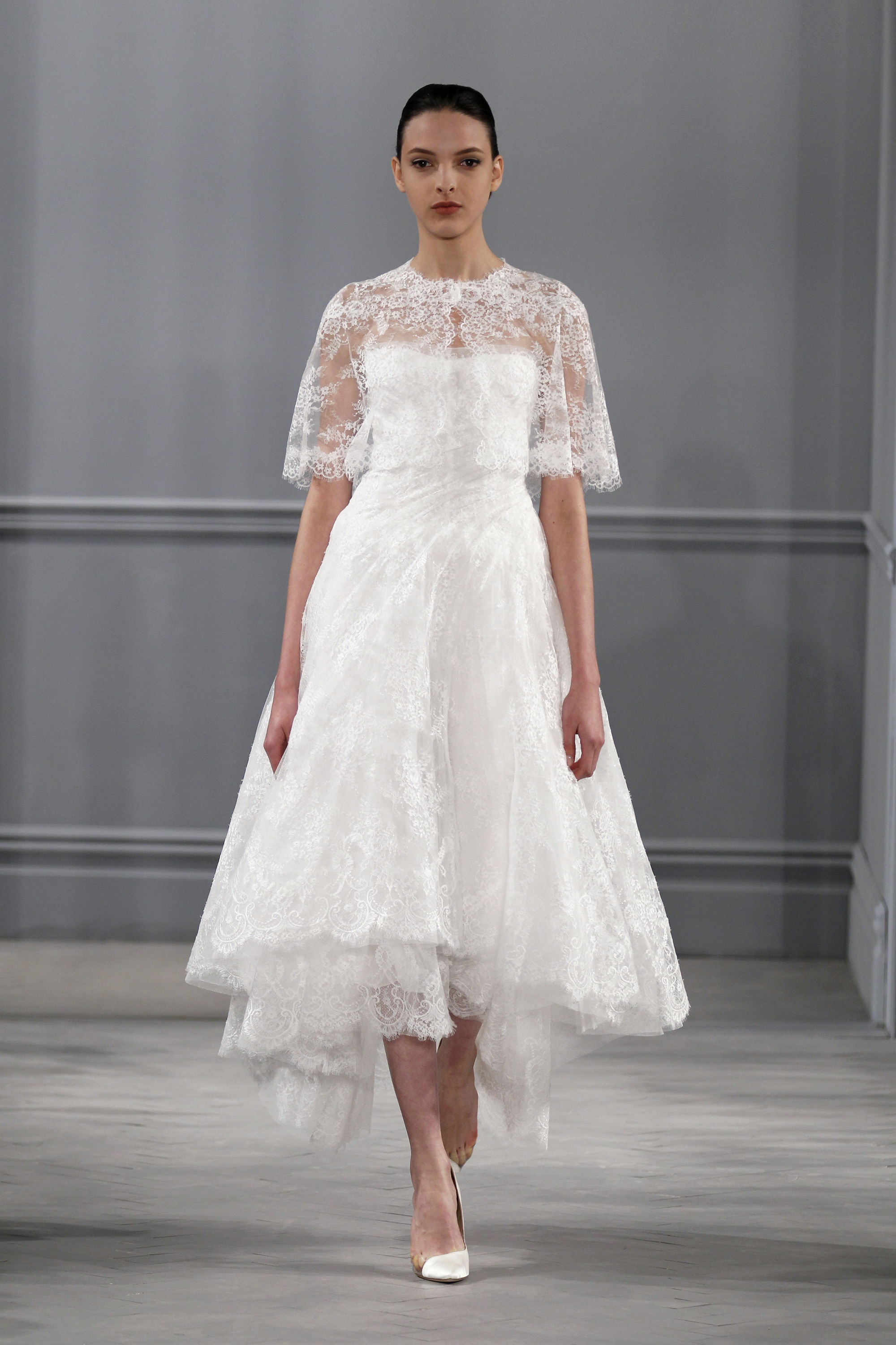 Capes - Monique Lhuillier Spring 2014 Wedding Dress