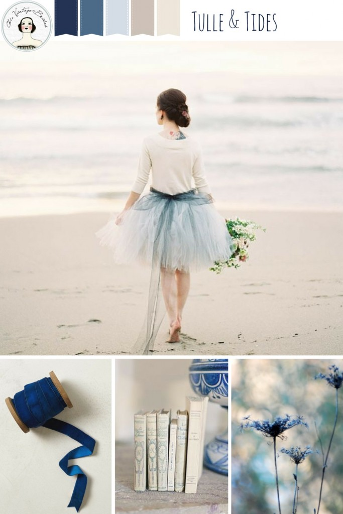 Tulle & Tides - Beach Wedding Inspiration in Vintage Blue and Linen