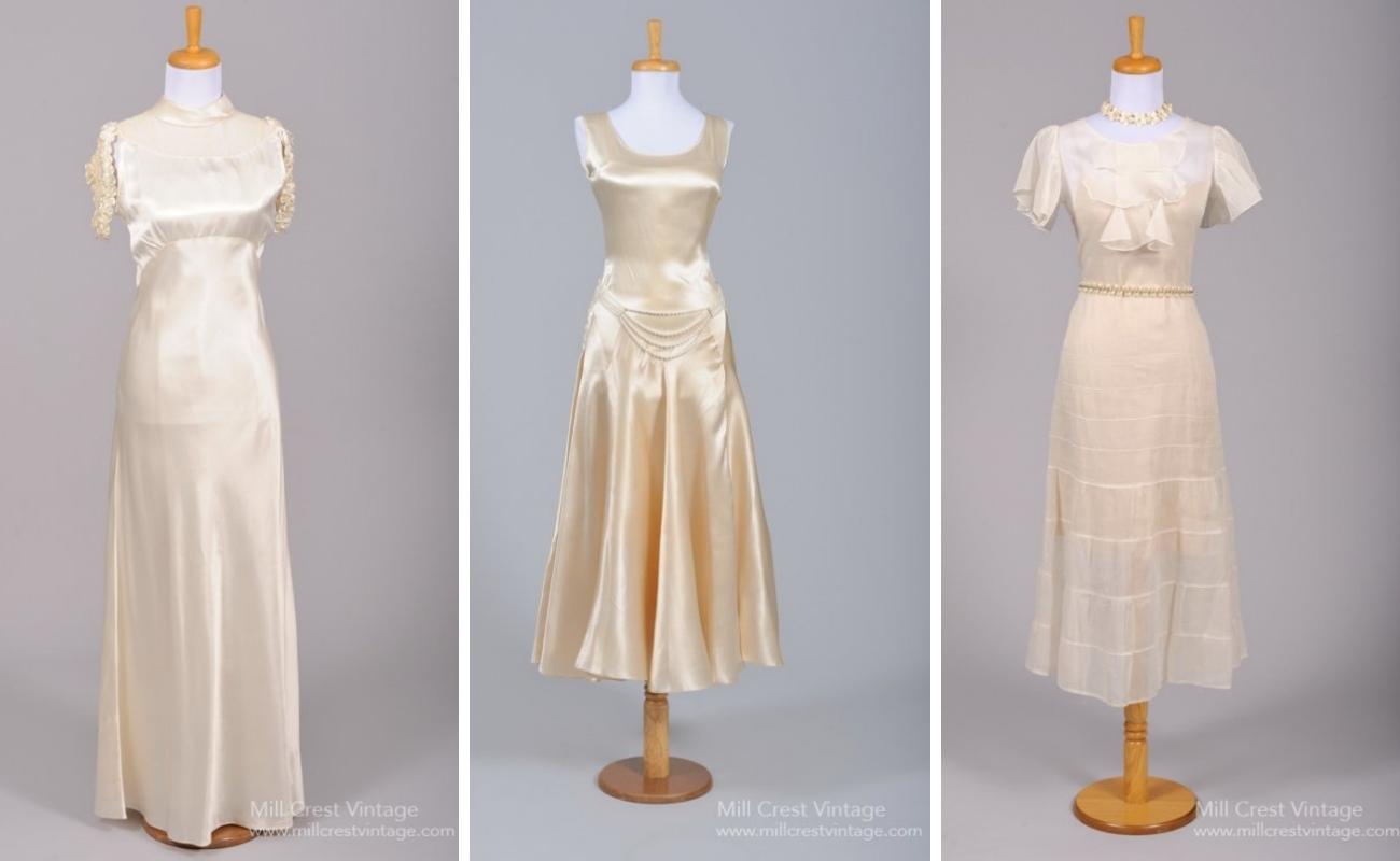 1930s Vintage Wedding Dresses from Mill Crest Vintage
