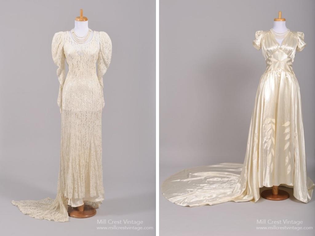 1940s Vintage Wedding Dresses from Mill Crest Vintage