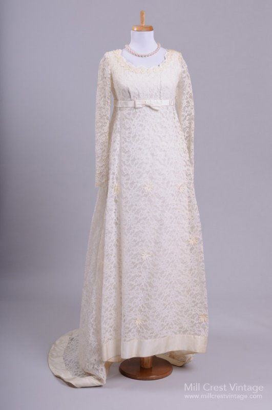 1960s Vintage Wedding Dress from Mill Crest Vintage