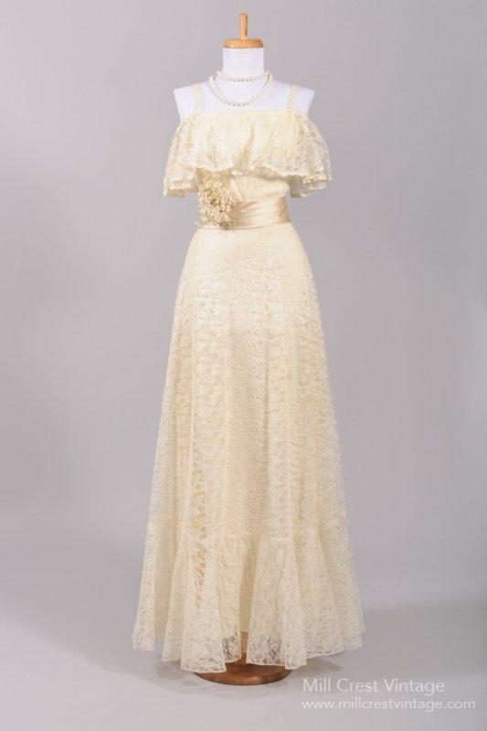 1970s Vintage Wedding Dress from Mill Crest Vintage