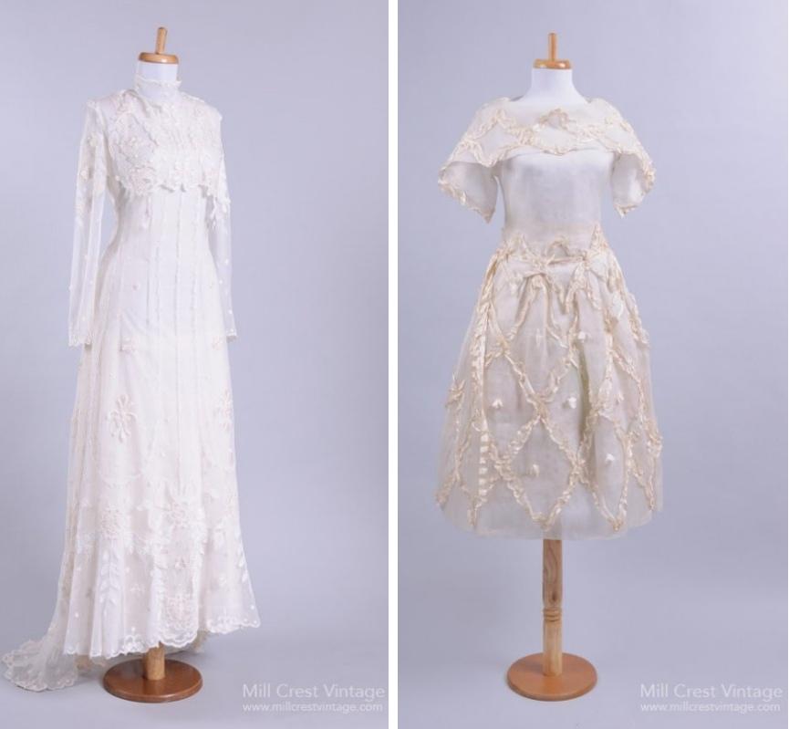 Edwardian Vintage Wedding Dresses from Mill Crest Vintage