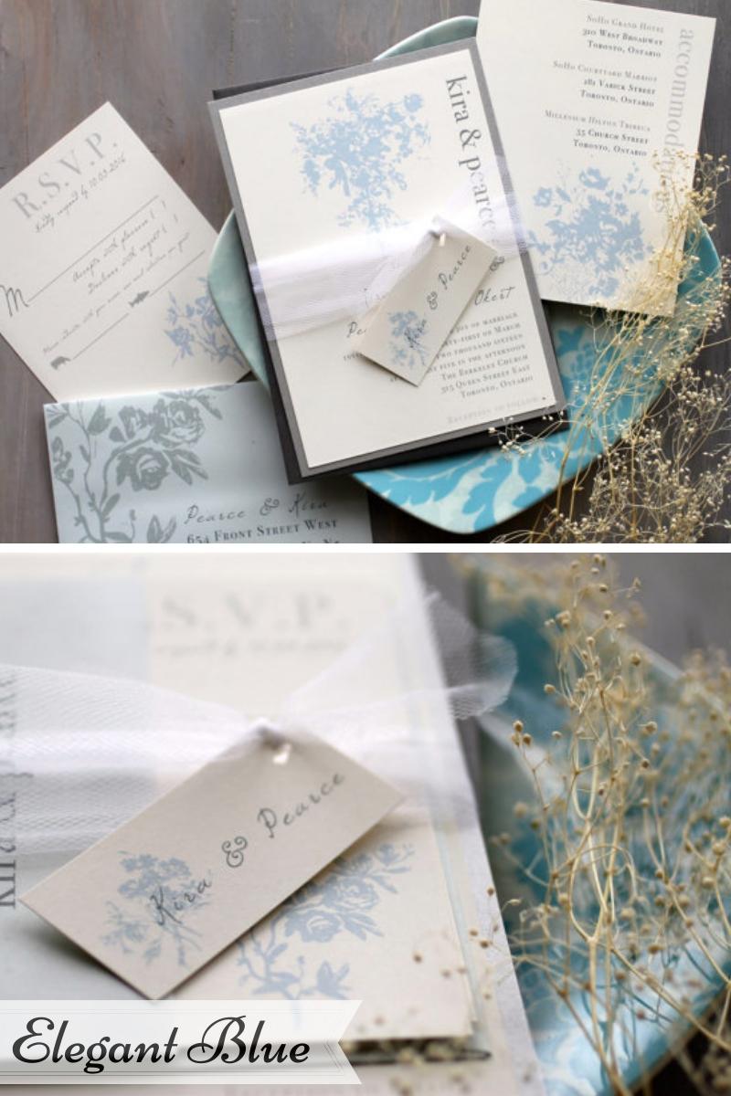 Beacon Lane Wedding Stationery -  Elegant Blue