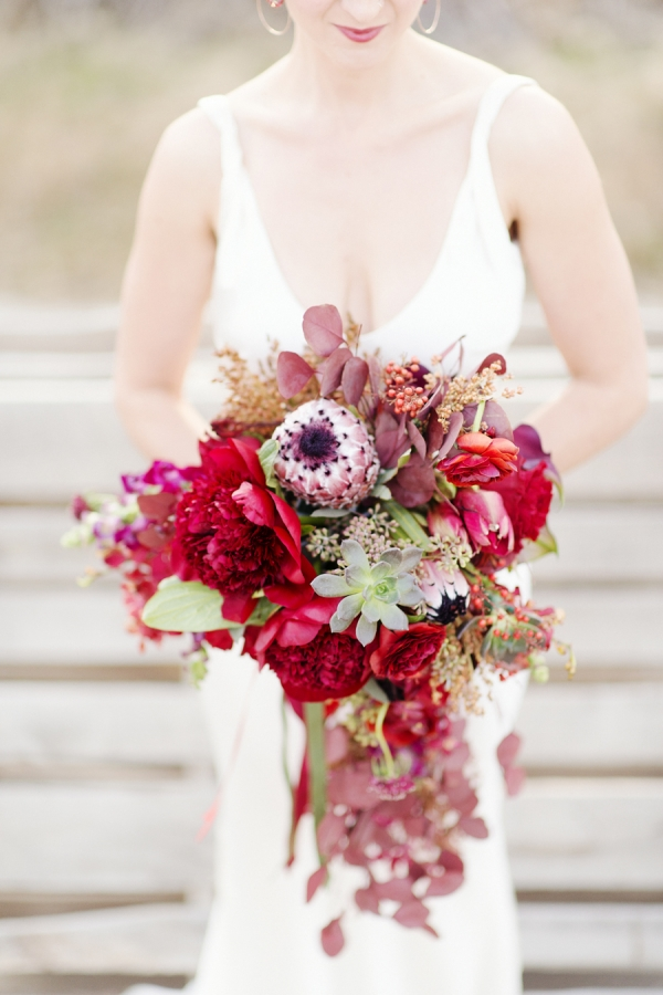 Elegant Cascading Red Bouquet