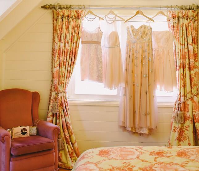 Blush Wedding Dress - An Enchanting Montrose Berry Farm Wedding from Lara Hotz Photography