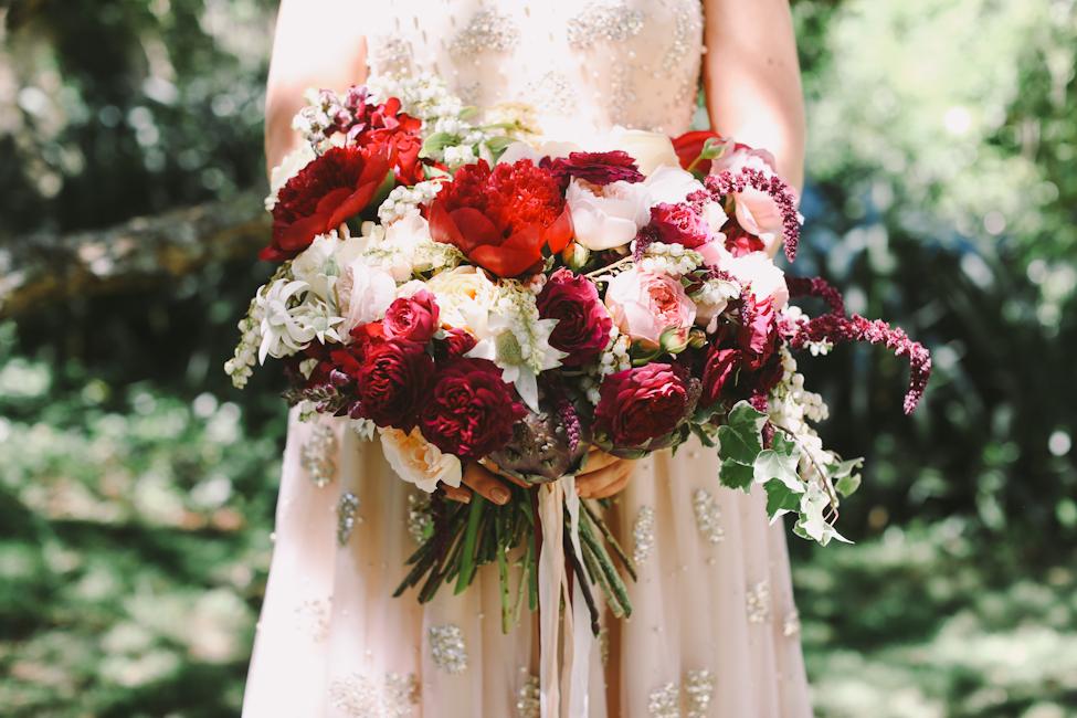 Beautiful Berry Coloured Bridal Bouquet - Lara Hotz Photography