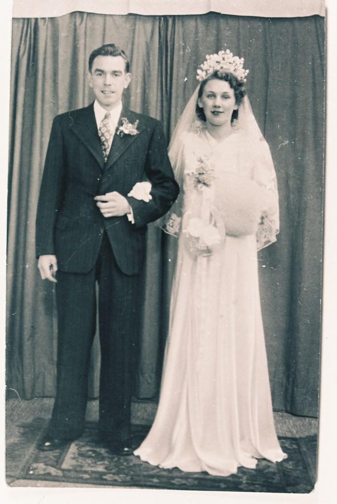 Joan Dowden 1940s Bride
