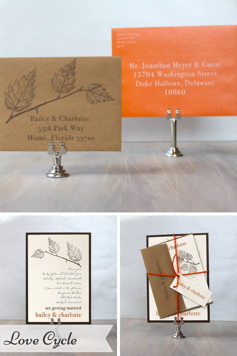 Beacon Lane Wedding Stationery -  Love Cycle