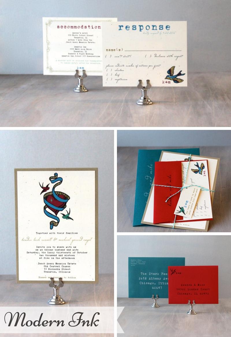 Beacon Lane Wedding Stationery -  Modern Ink