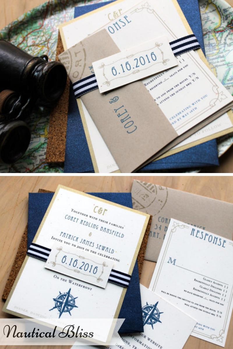 Beacon Lane Wedding Stationery -  Nautical bliss