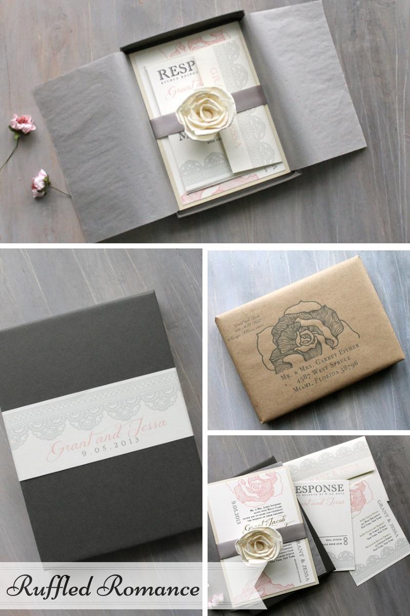 Beacon Lane Wedding Stationery -  Ruffled Romance