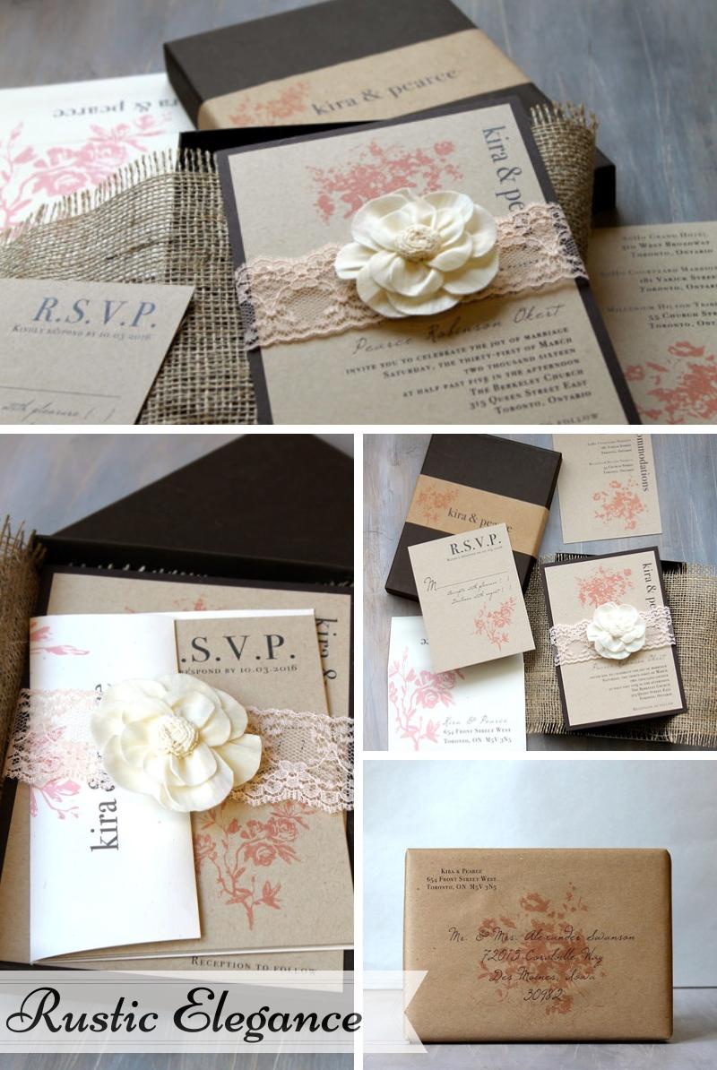 Beacon Lane Wedding Stationery -  Rustic elegance