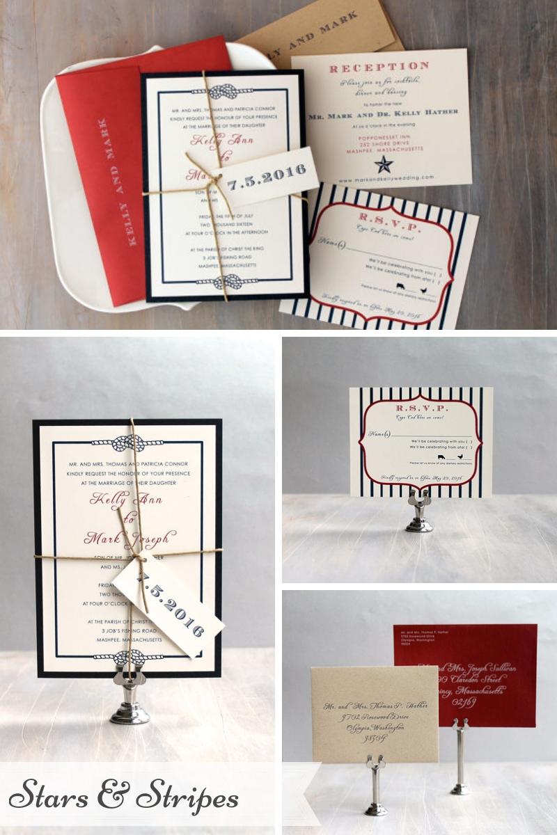 Beacon Lane Wedding Stationery -  Stars & stripes