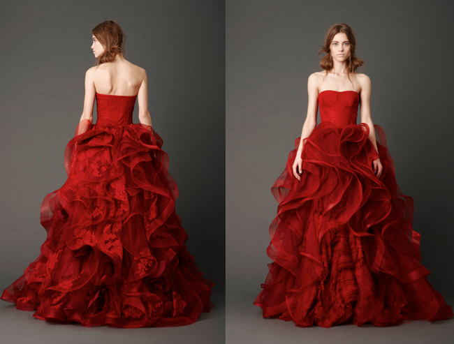 Valentines Day Wedding Dress from Vera Wang