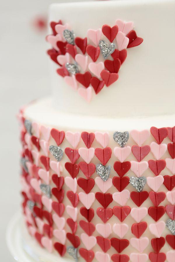 Valentines Day Inspired Wedding Cake